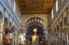 Interiore della chiesa Roma, Italia Immagini Stock Libere da Diritti
