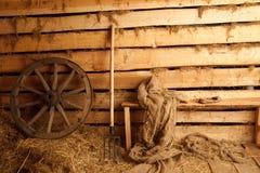 Interiore della costruzione del villaggio. Fotografia Stock Libera da Diritti