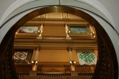 Interiore della costruzione di Denver Campidoglio Fotografie Stock