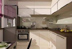 Interiore della cucina Fotografie Stock