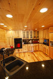 Interiore della cucina della casa di libro macchina Fotografie Stock