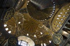 Interiore della cupola di Hagia Sophia Fotografie Stock Libere da Diritti