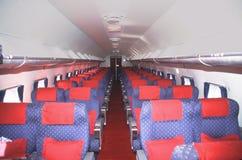 Interiore della Douglas DC4 Skymaster Fotografia Stock Libera da Diritti