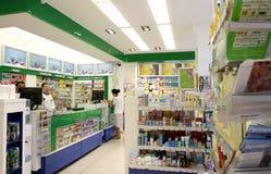 Interiore della farmacia del negozio della farmacia Fotografie Stock