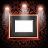 Interiore della galleria con i blocchi per grafici vuoti Fotografie Stock