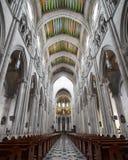 Interiore della La Real de La Almudena della Santa Maria Fotografia Stock Libera da Diritti