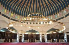 Interiore della moschea fotografie stock libere da diritti