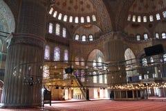 Interiore della moschea blu Fotografie Stock