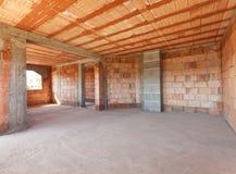 Interiore della nuova costruzione Immagine Stock