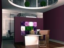 Interiore della ricezione dell'ufficio Fotografia Stock Libera da Diritti
