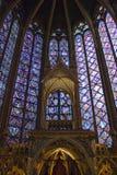 Interiore della st Chappelle Immagini Stock Libere da Diritti