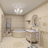 Interiore della stanza da bagno illustrazione di stock