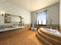Interiore della stanza da bagno moderna Immagini Stock