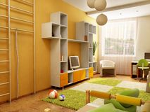 Interiore della stanza dei bambini Fotografia Stock Libera da Diritti