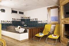 Interiore della stazione termale Immagini Stock