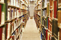 Interiore delle biblioteche Fotografia Stock