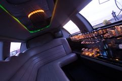 Interiore delle limousine Immagini Stock