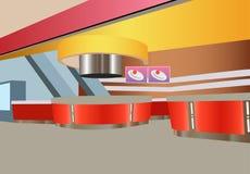 Interiore dello snack bar di vettore Immagine Stock
