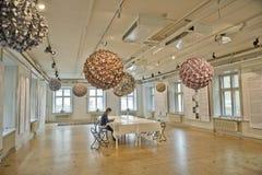 Interiore dello studio di arte Immagini Stock Libere da Diritti