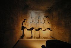 Interiore di Abu Simbel Fotografia Stock