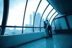 Interiore di affari da vetro Fotografie Stock Libere da Diritti