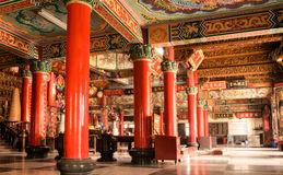 Interiore di costruzione del tempiale variopinto della Cina Immagine Stock Libera da Diritti