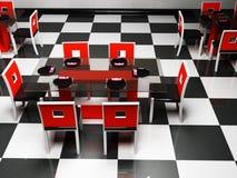 Interiore di disegno della sala da pranzo di eleganza Fotografia Stock Libera da Diritti
