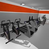 Interiore di ginnastica Immagini Stock