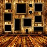 Interiore di Grunge con i blocchi per grafici nel baroque di stile illustrazione di stock