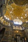Interiore di Hagia Sophia Fotografia Stock