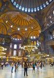 Interiore di Hagia Sophia a Costantinopoli Turchia Fotografie Stock Libere da Diritti