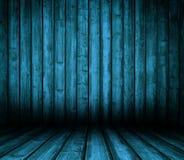 Interiore di legno blu. Fotografia Stock Libera da Diritti