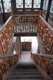 Interiore di legno cinese della casa Immagine Stock Libera da Diritti