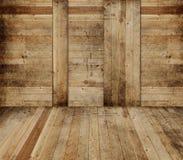 Interiore di legno del granaio Immagine Stock