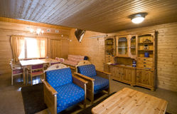 Interiore di legno della cabina Immagine Stock Libera da Diritti