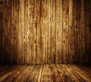 Interiore di legno della stanza immagini stock libere da diritti