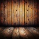 Interiore di legno giallo dell'annata Fotografia Stock Libera da Diritti