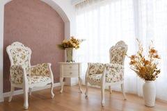 Interiore di lusso classico Fotografia Stock Libera da Diritti