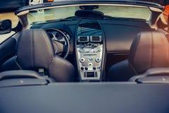 Interiore di lusso dell'automobile Fotografia Stock