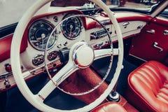 Interiore di lusso dell'automobile Fotografia Stock Libera da Diritti