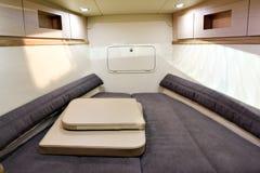 Interiore di lusso della barca Fotografie Stock Libere da Diritti