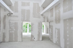 Interiore di nuova costruzione domestica Immagine Stock Libera da Diritti