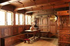 Interiore di Rosenborg Palas Immagini Stock
