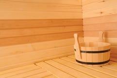 Interiore di sauna Fotografia Stock