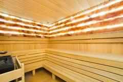 Interiore di sauna Immagini Stock