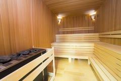 Interiore di sauna Immagine Stock Libera da Diritti