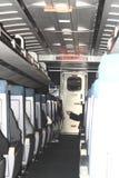 Interiore di un'automobile di treno Immagine Stock