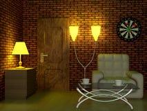 Interiore di un salone. royalty illustrazione gratis