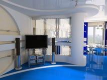 Interiore di un salotto Fotografia Stock Libera da Diritti