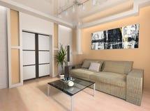 Interiore di un salotto Fotografie Stock Libere da Diritti